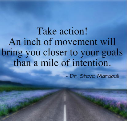 take action an inch of movement