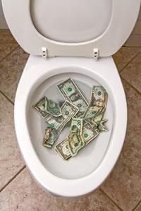 wasting marketing budget